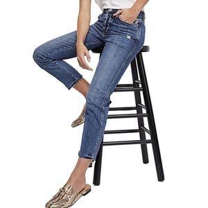 Free People Slim High Rise Boyfriend Jeans